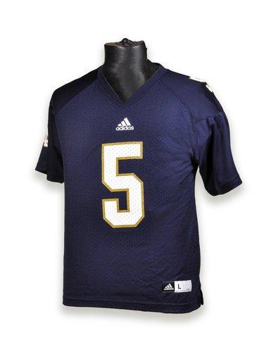 Elite Fan Shop Notre Dame Fighting Irish Kids Football Jersey #5 - L - Navy ()