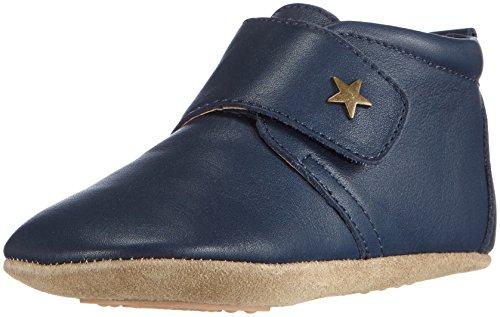 Bisgaard Unisex Baby Velcro Star Pantoffeln Blau (21 Navy)