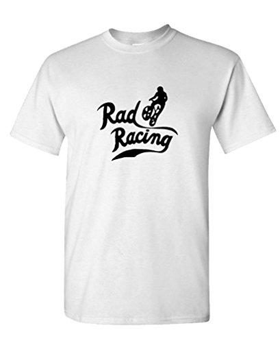 RAD Racing Retro Vintage 80's BMX Biking - Mens Cotton T-Shirt, XL, -