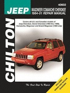 amazon com chilton s jeep wagoneer comanche cherokee 1984 96 repair rh amazon com 96 jeep cherokee factory service manual 1996 jeep cherokee service manual pdf