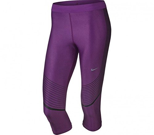 Nike Women's Power Speed Running Capris Cosmic (Medium, Lilac)