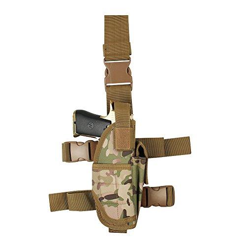 [Tactical Leg Holster, Drop Leg Gun Holster Adjustable Thigh Pistol Pouch(XL)] (Leg Gun Holster Costumes)