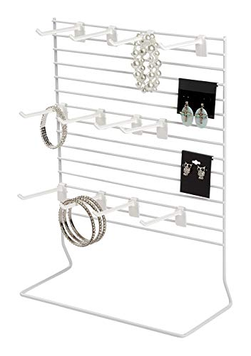 (SSWBasics 12-Peg White Wire Countertop Rack - 12
