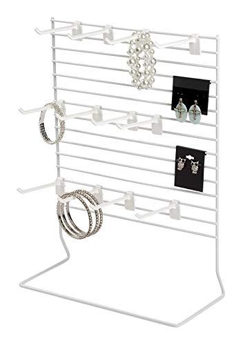 SSWBasics 12-Peg White Wire Countertop Rack - 12