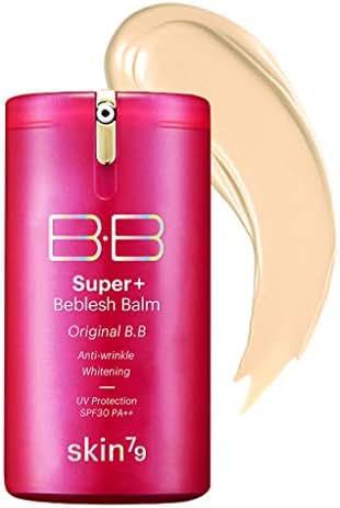 SKIN79 Super Plus Beblesh Balm Triple Function Pink BB (SPF30/PA++) 40g - UV Block, Anti Wrinkle, Whitening