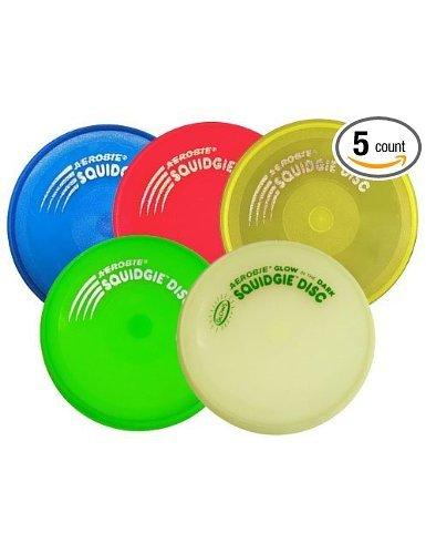 Aerobie Squidgie Discs--Set of 5 (Color May Vary)