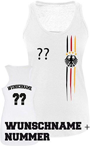 Luckja EM 2016 Deutschland Trikot Wunschname und Wunschnummer M 03 Damen Tanktop