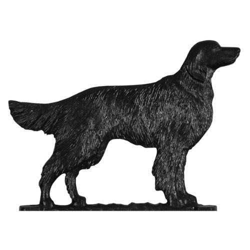 Whitehall Products Golden Retriever Weathervane, 30-Inch, Rooftop Black