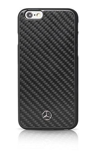 Mercedes-Benz Dynamische Echt-Carbon-harter Fall für Apple iPhone 6 Plus/6S Plus schwarz