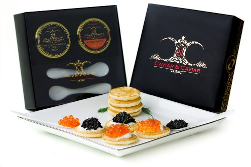 "GUARANTEED FRESH! C&C ""American"" Gourmet Luxury Caviar Gift Basket – 1oz P ..."