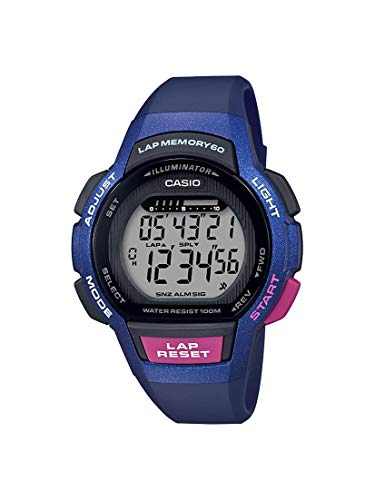 Casio Women's Runner Series Quartz Running Watch with Resin Strap, Purple, 19.3 (Model: LWS-1000H-2AVCF)