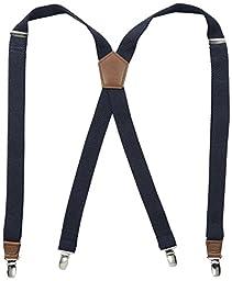 Dockers Men\'s Textured Solid Suspender, Navy, One Size
