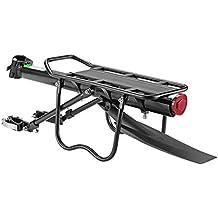 RockBros Bicycle Cargo Rack Mountain Bike Fender Board Quick Release Carrier Rear Rack Alloy Black