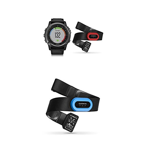 Garmin Fenix 3 HR, Gray Performer Bundle and HRM-Tri Heart Rate Monitor