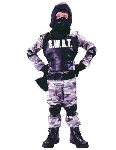 S W A T Child Child Costume - (Swat Girl Halloween Costumes)
