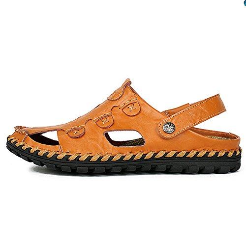 Sandalias De Verano para Hombre,Aire Hueco Sandalias De Suela Suaves B