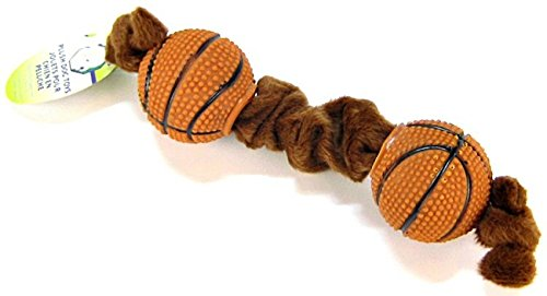 - Coastal Pet Products DCP84205 Li'l Pals Plush and Vinyl Tug Dog Toy, Basketball, 8-Inch