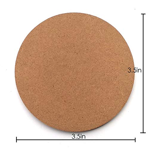 IVEI Do-it-Yourself Plain Round MDF Coasters Set of 12- for Activity – decoupage – DIY Circle MDF Coasters – Circle Price & Reviews