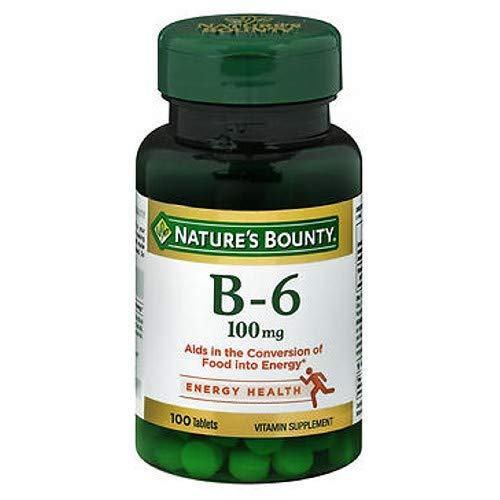 Nature's Bounty Vitamin B6, 100mg, 100 Tablets (Pack of 4)
