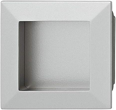 Juva Möbelgriff – Puerta corredera EL-01 – Tirador rectangular Puerta corrediza aspecto de acero – Modelo h8520, 69 x 69 mm, 1 pieza: Amazon.es: Bricolaje y herramientas