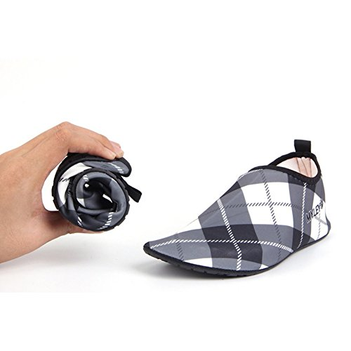 Couples by Unisex Grey with for Women's Shoes Sea Aesy Plaids Men's Shoes Water Beach Casual Shoes OWTxntBf