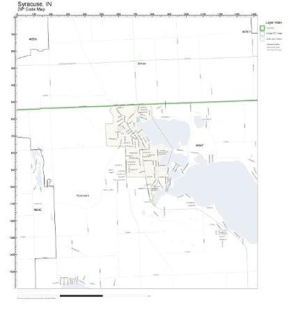 Amazon.com: ZIP Code Wall Map of Syracuse, IN ZIP Code Map ...