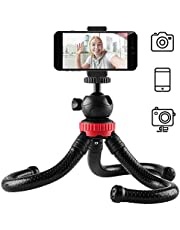 Newdora Stativ Kamera Stativ für Mobiltelefone Smartphone Fotoausrüstung SLR Kamera Reise Stativ Tripod flexibel leicht (Schwarz)