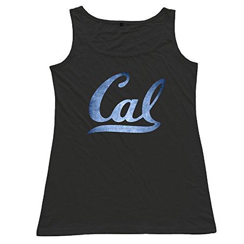 Black Cal Bears Black Pond Logos Women's Cotton Tank Top