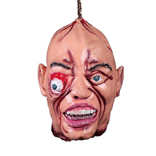 Xiaolanwelc@ 1pcs Latex God-Awful Halloween Party Scary Mask Skull Horror Bloody Mask Helloween Sasquerade Scream Halloween Party Supplies (E)