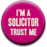 Trust Me Im A Solicitor Badge by RetroBadge
