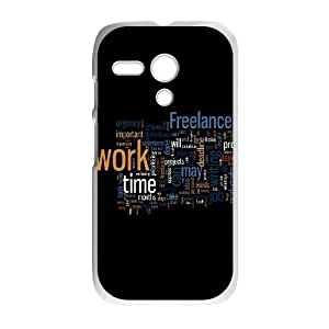 Motorola G Cell Phone Case White Freelance Switch Work Time SLI_535216
