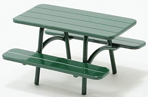 (International Miniatures by Classics Dollhouse Miniature Green Picnic Table, 1:24th Scale )