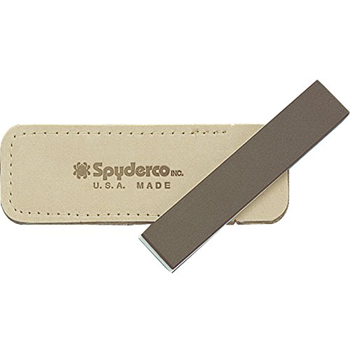 Spyderco Double 1 x 5 x 1/4 Stuff Fine/Medium Stone with Pouch (Pocket Stone)