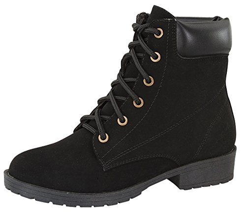 Bade Combat Military Nubuck Lace Up High Top Ankle Boots - stylishcombatboots.com