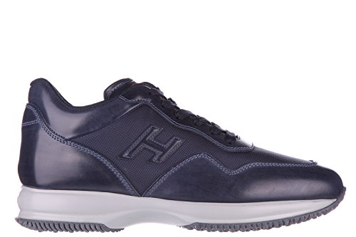 Hogan Herrenschuhe Herren Leder Schuhe Sneakers interactive h 3d blu