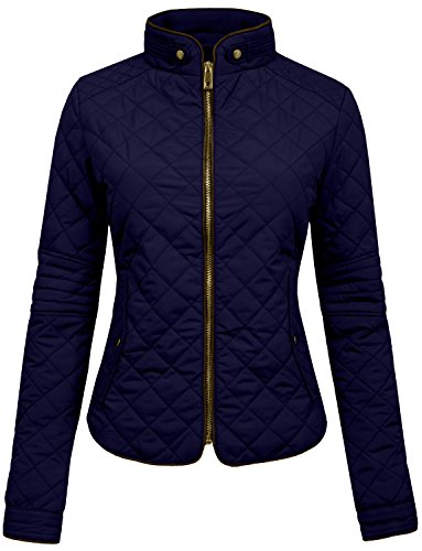 navy quilted jacket - 7
