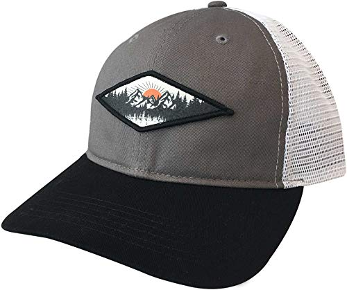 - Alpine Design Men's Mountain Patch Trucker Hat(Grey,OneSize)