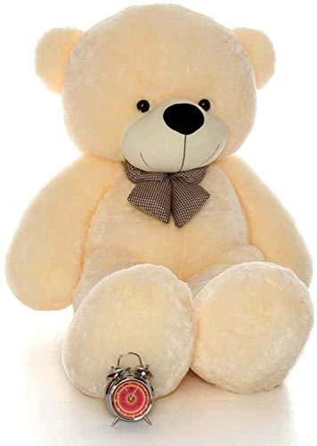 IMPEE 3 Feet Huggable Teddy Bear with Neck Bow 92 cm, Cream