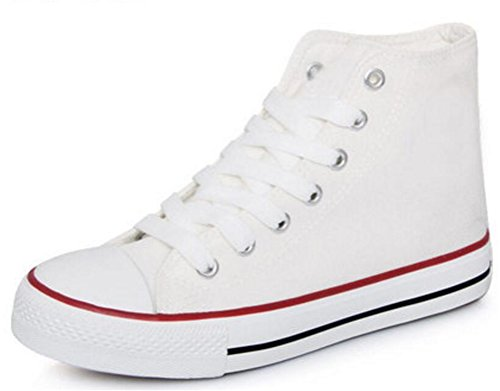 Women's Casual High Top Flat Canvas Shoes Fashion Sneakers (6, (Cheap Shoes For Teen Girls)