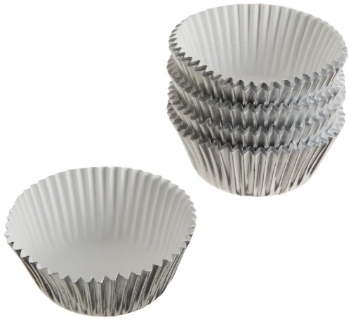 Wilton Silver Foil Baking Cups Mini 80Count