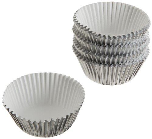 Wilton Silver Foil Baking Cups, Mini, - Mini Foil Cupcake Liners