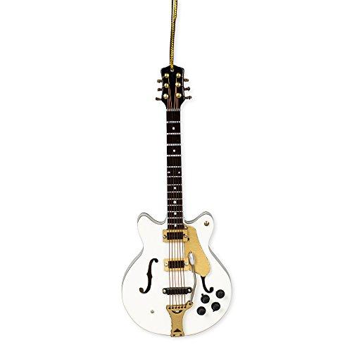 White Falcon Electric Guitar Music Instrument Replica Christmas Ornament, 5 inch