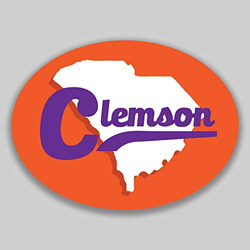 JB Print Magnet Clemson South Carolina Oval Vinyl City Town College University Vinyl Decal Sticker Car Waterproof Car Decal Magnetic Bumper Sticker 5