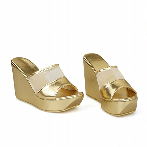 Pictures of Latasa Women's Platform Wedges Slide Sandals 8 M US 2