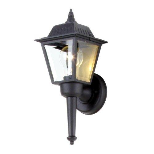 Hampton Bay Black 1-Light Outdoor Wall Lantern ()