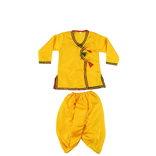 India Costume For Boy (Baby Boys Girls Dhoti Kurta Costume Wear Garba, Dandiya, Durga Puja, Diwali Dress)