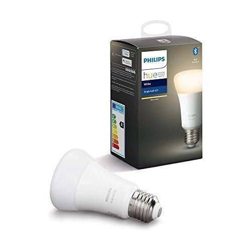 chollos oferta descuentos barato Philips Hue Bombilla Inteligente LED E27 con Bluetooth Luz Blanca Cálida Compatible con Alexa y Google Home