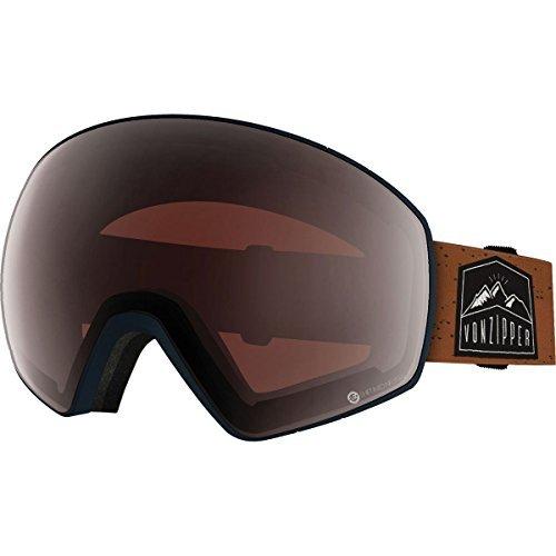 VonZipper Unisex Jetpack Wake/Bake Black Gloss Satin Fade/Smoke Pink Chrome Goggles