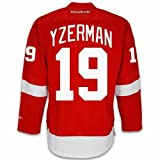 Detroit Red Wings VINTAGE Steve YZERMAN #19 *C* Official Home Reebok Premier Replica Adult NHL Hockey Jersey (HAND SEWN CUSTOMIZATION)