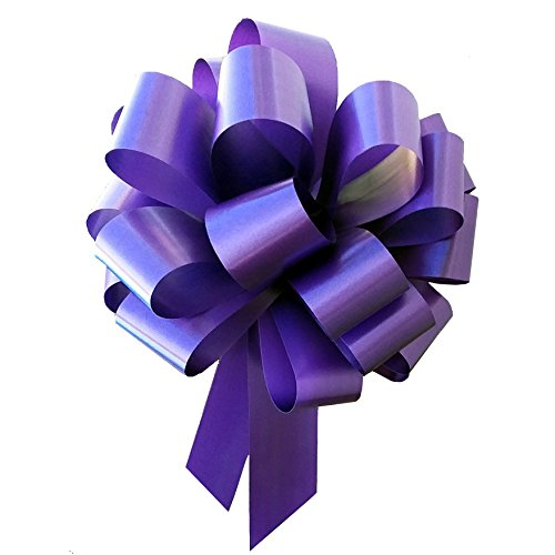 Large Purple Ribbon Pull Bows - 9